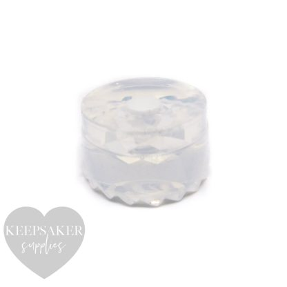 faceted charm mould, handmade silicone mold. For Pandora style bracelets, European charms