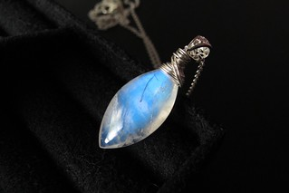 wire wrapped marquise necklace