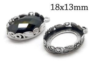 18x13mm silver setting