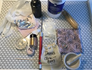 supplies needed to make a cremation ashes heart necklace