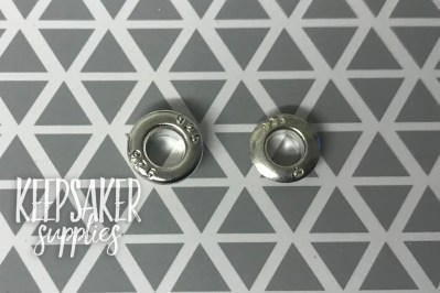 Silver plated on the left, solid silver on the right (from Keepsaker Supplies)