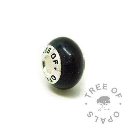 vampire black lock of hair charm bead, for Chamilia and Pandora bracelets