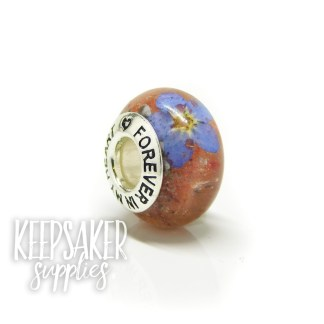 red ashes bead, forget me not. Dragon's Blood Red Resin Sparkle Mix