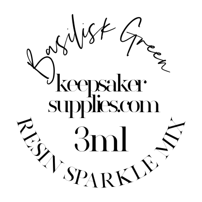 basilisk green resin sparkle mix, 3ml pot ideal for resin jewellery making