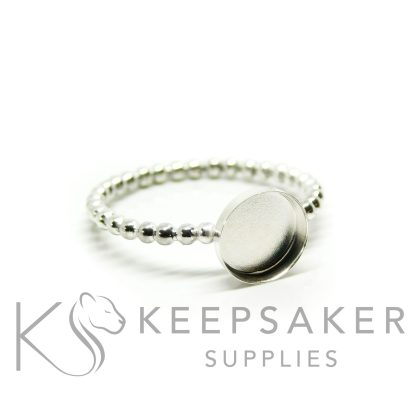 bubble band ring in Argentium silver 2mm wide, 8mm cup