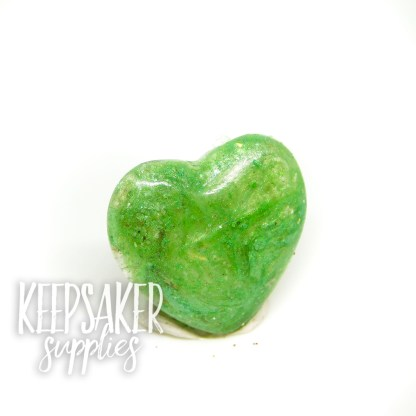 cremation ashes heart basilisk green