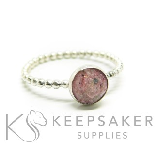 ashes bubble ring, cremation ashes and fairy pink resin sparkle mix, bubble band ring, 8mm cabochon