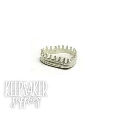 heart bezel for 10mm heart, scalloped edge, engravable back