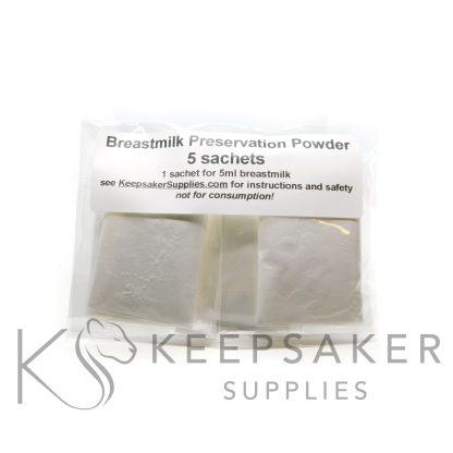breastmilk preservation powder for preserving breastmilk or breastmilk substitute, our own recipe at Keepsaker Supplies