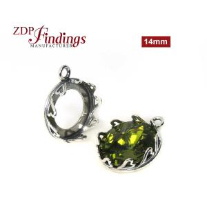 4pcs x Round 14mm Quality Hearts Pattern Sterling Silver 925 Cast Bezel Cup For Setting from ZDP on Etsy
