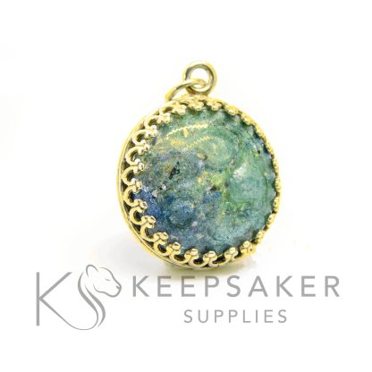blue aqua gold vermeil necklace, solid sterling silver plated with 24ct gold. Mockup