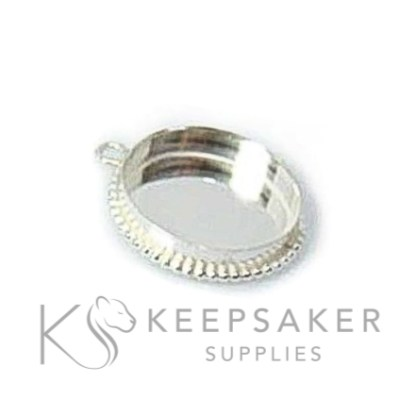 bubble wire necklace setting, solid sterling silver and comes with a jump ring