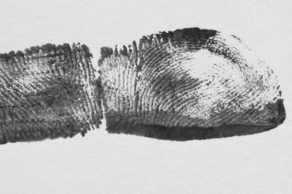 fingerprint black and white ready for engraving 2D laser engraving jewellery