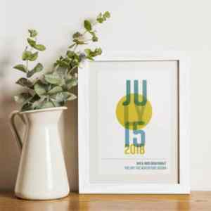 Contemporary typographic wedding keepsake gift