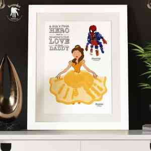 Superhero and Princess Handprints