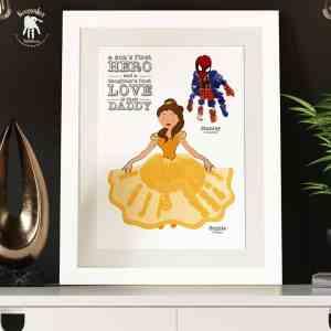 Superhero and Princess Handprints