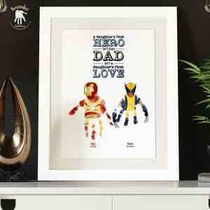 Superhero Handprints Keepsake for Dad