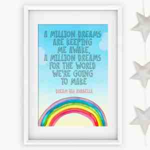 Personalised Greatest Showman Print – Million Dreams