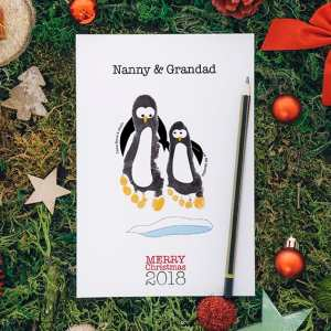 Penguins- A5 personalised Christmas Cards