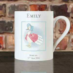 Personalised Jemima Puddle Duck Handprint Cup