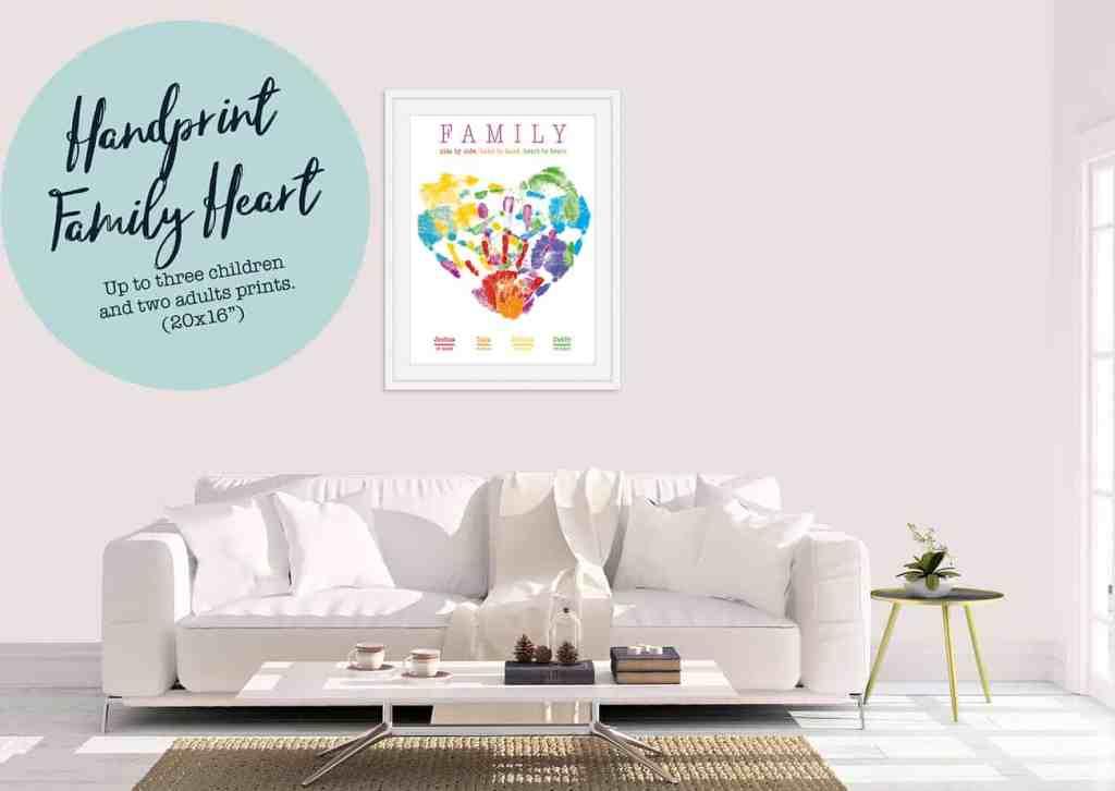 handprint family heart