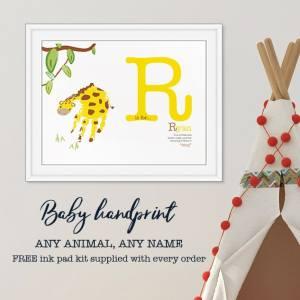 Giraffe handprint- Name meaning