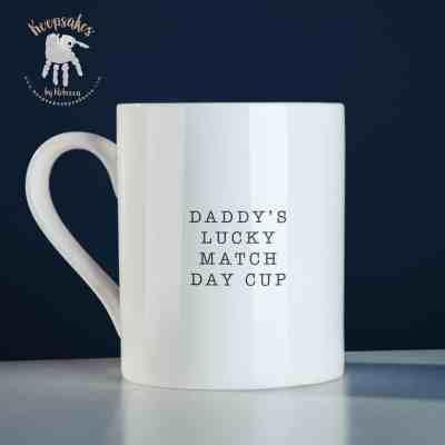 personalised football mug for dad- footprint art