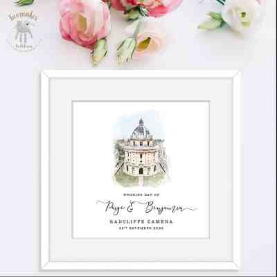 Personalised Wedding Gift | Wedding venue illustration