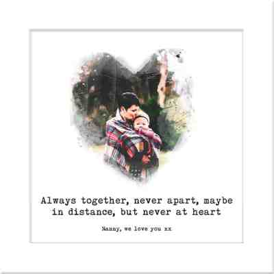Always together, never apart, maybe in distance, but never at heart | Family Quote | Thinking of you gift