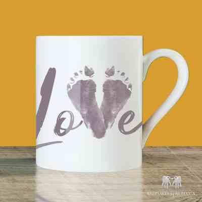 Baby footprint   Keepsake cup