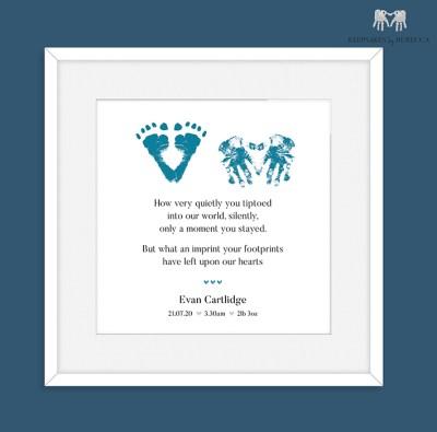 Baby loss Keepsake   baby loss poem   Stillborn poem   Stillborn footprint keepsake