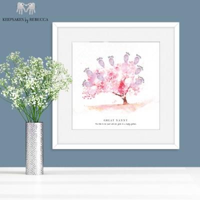 Fingerprint family tree | Family tree | Fingerprint print | personalised family