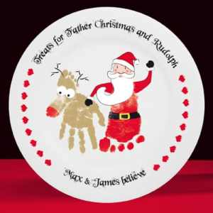 Treats for Father Christmas & Rudolph plate