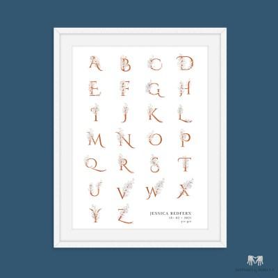alphabet print for girls