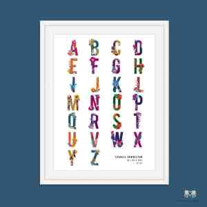 Rainbow Personalised Alphabet