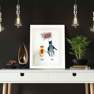 Superhero Dad- handprint art