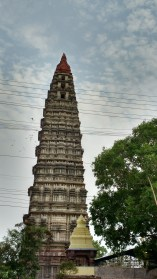 Temple tower's side view