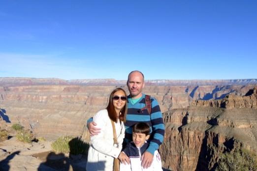 Galera feliz no Grand Canyon