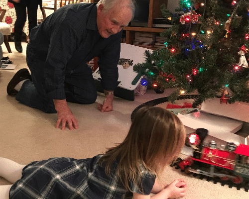 grandkids on the floor