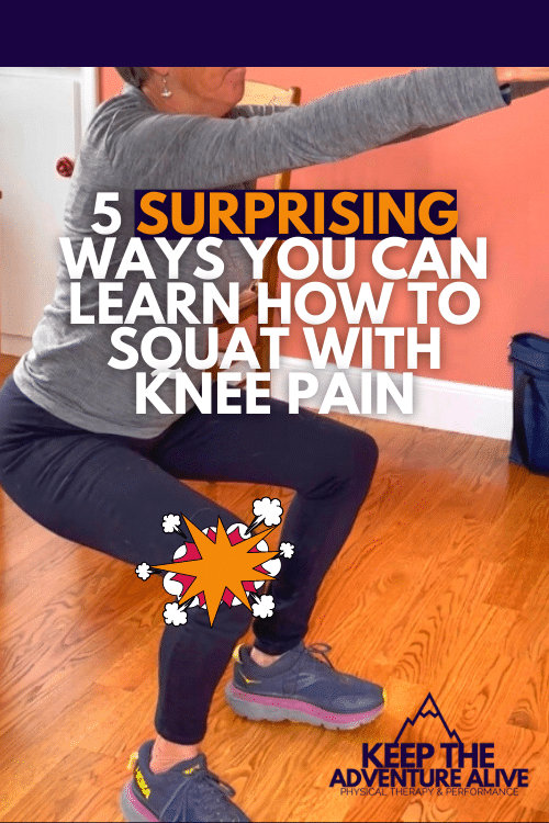 squat with knee pain