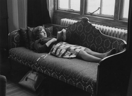Student_reading_in_the_Shaw_Library,_1964