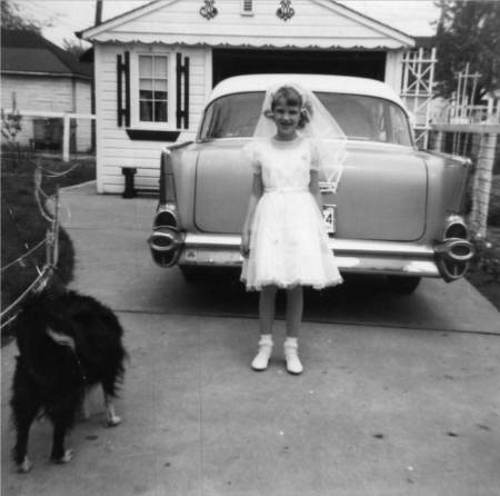 1962, Judy, Ginger - first communion