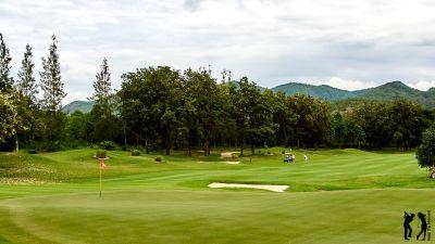 Springfield Golf Club Blick zurueck aufs Fairway