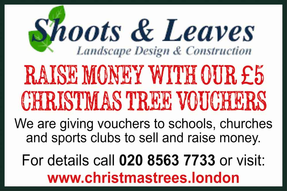 Shoots and Leaves: raise money with our £5 Christmas tree vouchers
