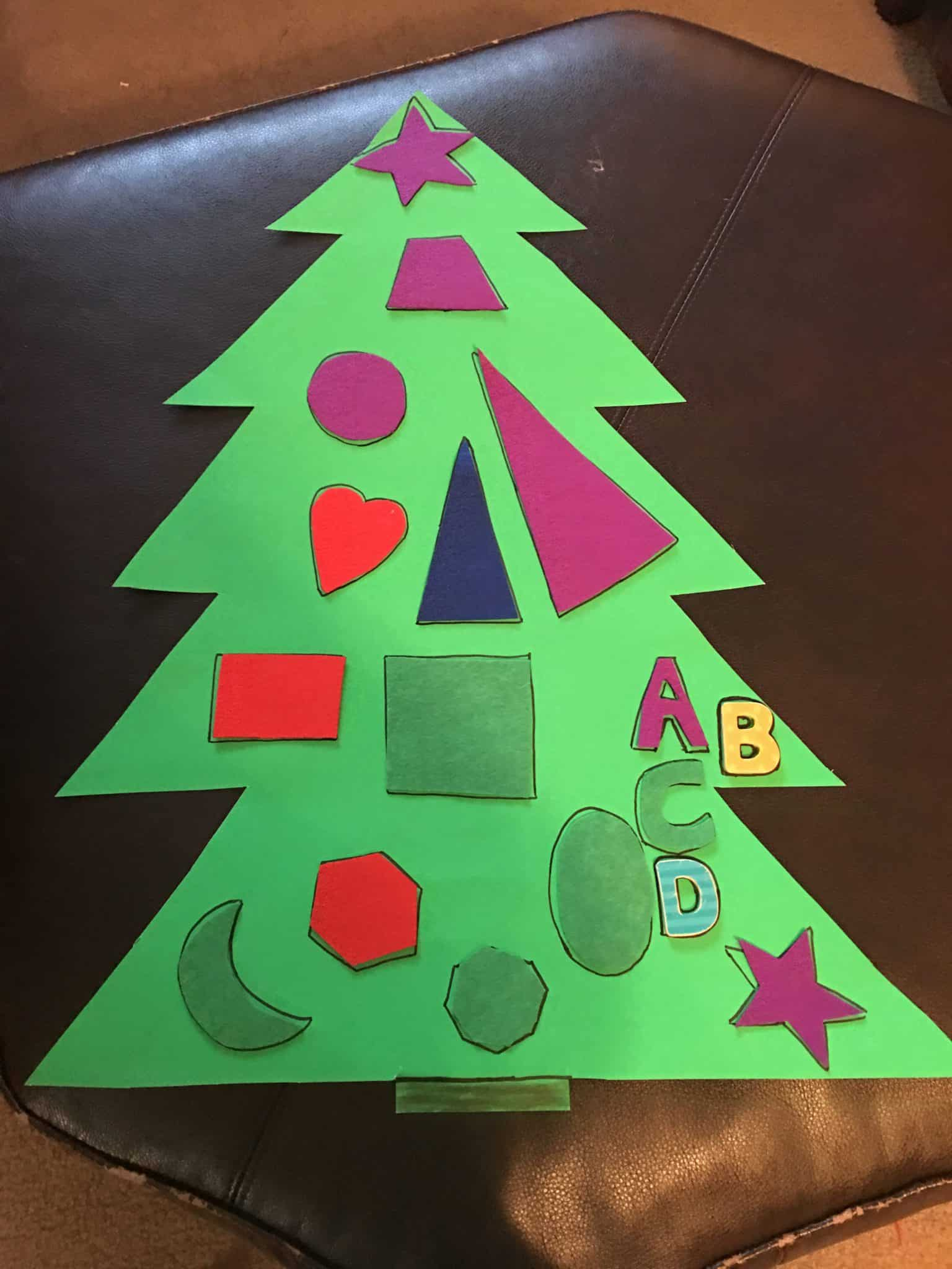 Preschool Christmas Activities Shape Tree