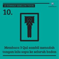 10sunnahsebelumtidur10