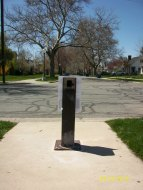 Current (and broken) drinking fountain at Laird Park...Remember the original one?