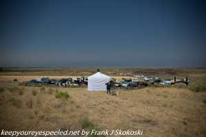 emergency tent at solar eclipse