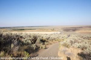 trail to Northern Menan butte summit Idaho