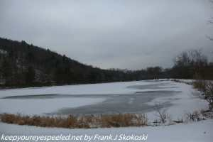 frozen snow covered lake